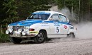 Saab 96 V4 ´75 - Lampisen Sinivalkoinen